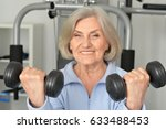beautiful elderly woman in a... | Shutterstock . vector #633488453