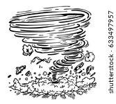hurricane damage | Shutterstock .eps vector #633497957