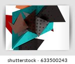 triangle business print... | Shutterstock .eps vector #633500243