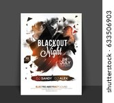 blackout night party flyer ... | Shutterstock .eps vector #633506903