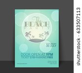 beach party flyer  template or... | Shutterstock .eps vector #633507113