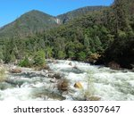 the rapids of merced river and... | Shutterstock . vector #633507647