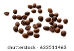 roasted coffee beans isolated... | Shutterstock . vector #633511463