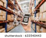 warehouse storage of retail... | Shutterstock . vector #633540443