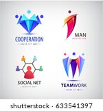 vector men group logo  human ... | Shutterstock .eps vector #633541397
