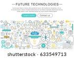modern line flat design future ... | Shutterstock . vector #633549713