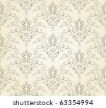 damask seamless pattern. vector | Shutterstock .eps vector #63354994