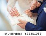 bride change wedding rings   Shutterstock . vector #633561053