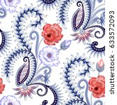 seamless pattern with white... | Shutterstock . vector #633572093