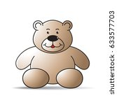 color cartoon bear sitting with ... | Shutterstock .eps vector #633577703