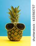 summertime pineapple fruit with ... | Shutterstock . vector #633583757