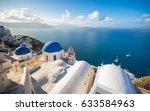 oia town on santorini island ... | Shutterstock . vector #633584963