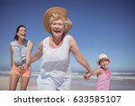 cheerful multi generation... | Shutterstock . vector #633585107