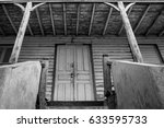 stairway to the unknown haunted ... | Shutterstock . vector #633595733