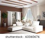 3d rendering. interior of a... | Shutterstock . vector #63360676