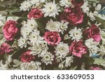 beautiful vintage flower... | Shutterstock . vector #633609053