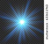 blue shine on transparent... | Shutterstock .eps vector #633611963
