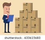 concept logistics business.... | Shutterstock .eps vector #633615683