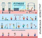 sport fitness infographic... | Shutterstock .eps vector #633617747