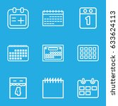 appointment icons set. set of 9 ... | Shutterstock .eps vector #633624113