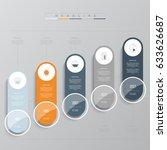 vector infographic template.... | Shutterstock .eps vector #633626687