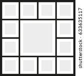 vector frames photo collage | Shutterstock .eps vector #633635117