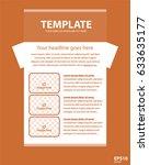 newsletter corporate vector... | Shutterstock .eps vector #633635177