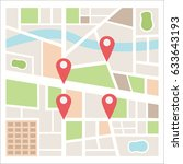 street maps and directions | Shutterstock .eps vector #633643193