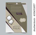 abstract flyer design... | Shutterstock .eps vector #633651857