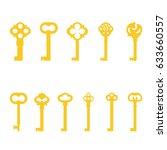 vector illustration set ... | Shutterstock .eps vector #633660557