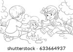 children coloring pages book a... | Shutterstock .eps vector #633664937