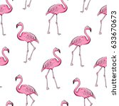 flamingo seamless pattern on... | Shutterstock .eps vector #633670673
