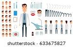 dentist character creation set. ... | Shutterstock .eps vector #633675827