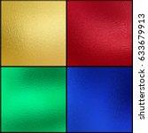 set of gold red green blue foil ... | Shutterstock . vector #633679913