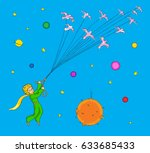 the little prince flying with
