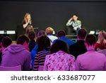 people attend business... | Shutterstock . vector #633687077