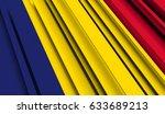 fragment flag of chad. 3d... | Shutterstock . vector #633689213