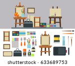 painting art tools palette icon ... | Shutterstock .eps vector #633689753