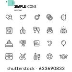 simple set of wedding related... | Shutterstock .eps vector #633690833