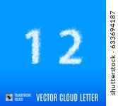 clouds in shape of the number... | Shutterstock .eps vector #633694187