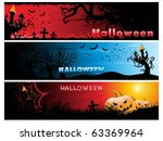 background with set of three... | Shutterstock .eps vector #63369964