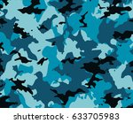 camouflage blue pattern ... | Shutterstock . vector #633705983