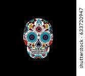 calavera doodle icon | Shutterstock .eps vector #633720947