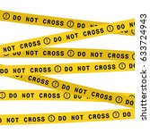 police line do not cross tape.... | Shutterstock .eps vector #633724943