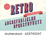 retro typography vector | Shutterstock .eps vector #633745247