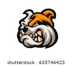 fierce angry dog character logo ... | Shutterstock .eps vector #633746423