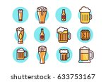 beer icons in vector graphics | Shutterstock .eps vector #633753167