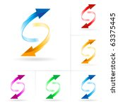 set  3 of different colored...   Shutterstock .eps vector #63375445