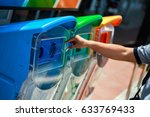 waste separation trash before... | Shutterstock . vector #633769433