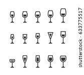 wine glass icons   Shutterstock .eps vector #633775517